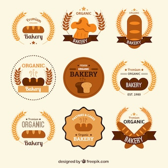 Round bakery badges pack