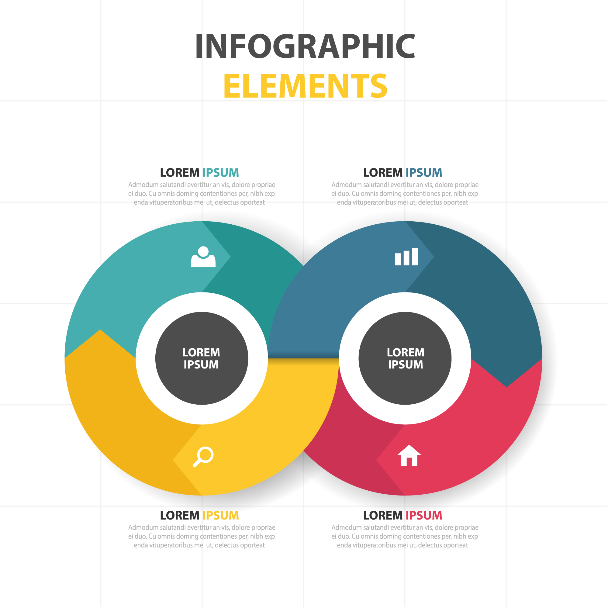 Round colorful infographic template