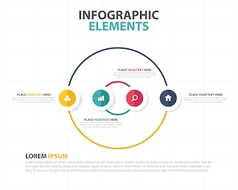 Round corporate infographic template