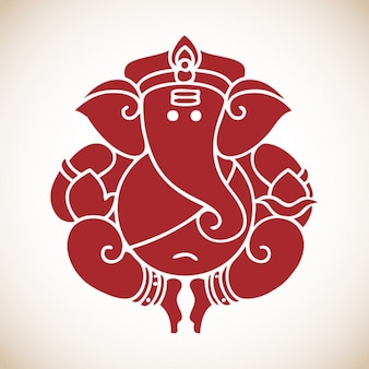 Round Ganesh Illustration