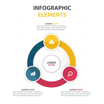 Round infographic business template
