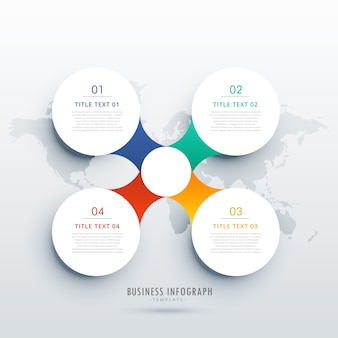 Round infographic design template
