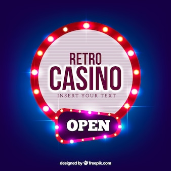 Round light casino sign background