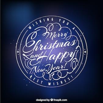 Round merry christmas sticker