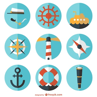 Round nautical elements collection