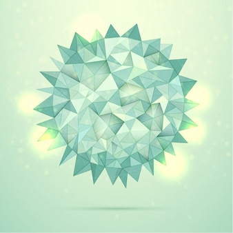 Round polygonal background with bokeh effect