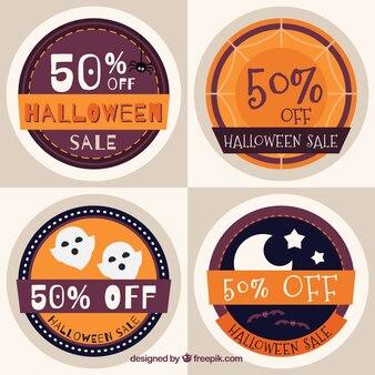 Round sale halloween stickers