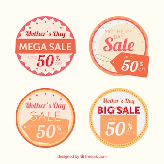 Round sale stickers for mother's day