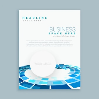 Round shapes brochure template