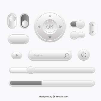 Rounded buttons set