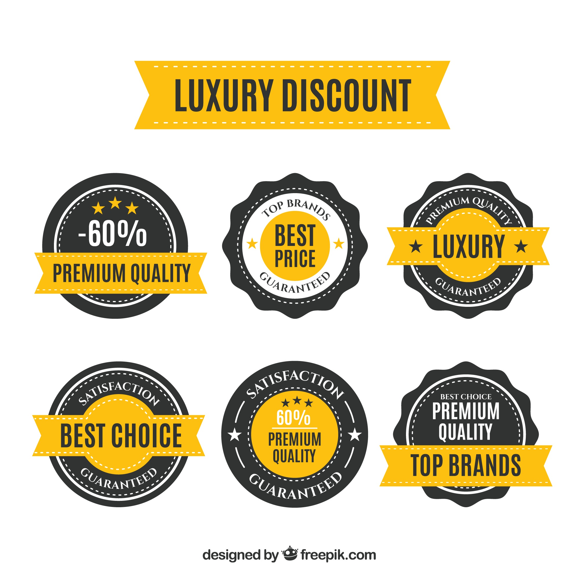Rounded discount stickers
