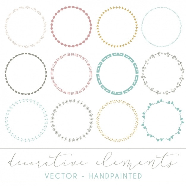 Super Cool Watercolor Round Frames. Stock Photography - Image ...