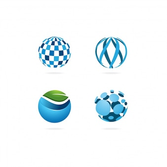 Rounded logo design collection