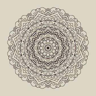 丸い曼荼羅の背景