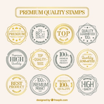 Rounded premium quality postages