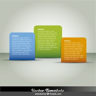 Rounded rectangular colorful infographics steps