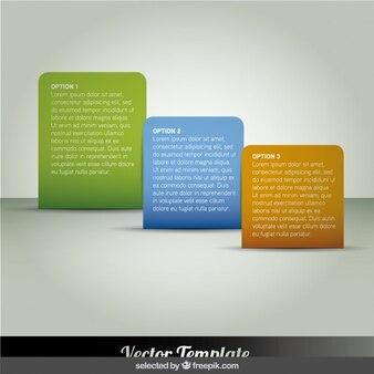 Rounded rectangular infographics steps