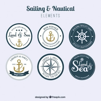 Rounded sailing badges pack