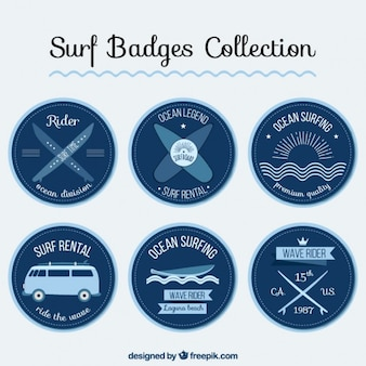 Rounded surf stickers pack