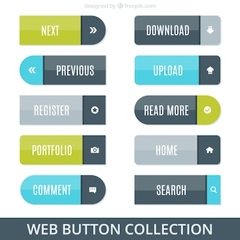 Rounded web buttons pack