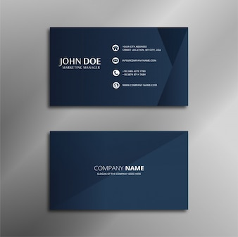 Royal Blue Simple Business Card Design