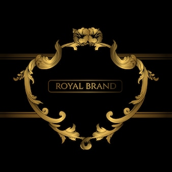 Royal brand background