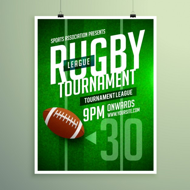 Rugby league game flyer
