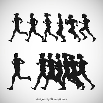 Runner silhouettes