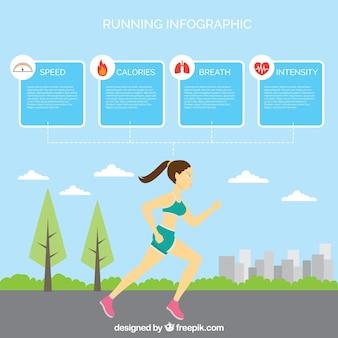 Running infographic design