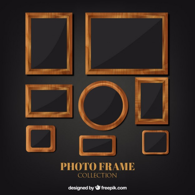 Rustic wooden picture frames