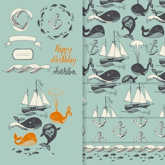 Sailing birthday invitation