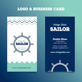 Sailing logo and business cards
