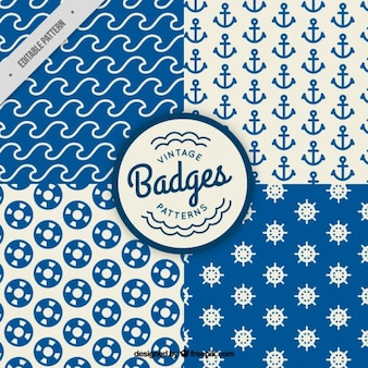 Sailor patterns in vintage style
