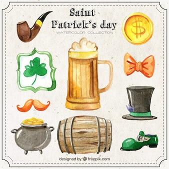 Sain Patrick Day Watercolor Collection