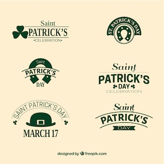 Saint Patrick Day Badge Collection