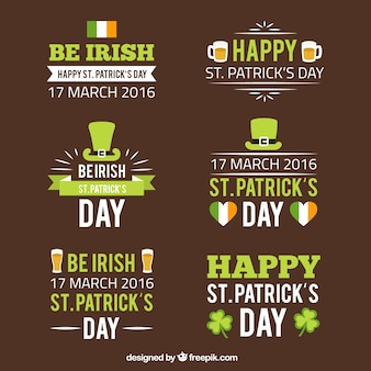 Saint Patrick Day Badges
