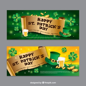Saint Patrick Day Banners Pack