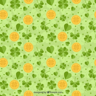 Saint Patrick Day Clover Pattern