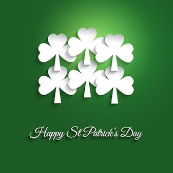 Saint Patrick Day Clovers Background