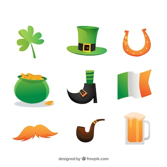 Saint Patrick Day Elements Collection