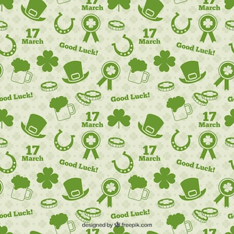 Saint Patrick Day Elements Pattern