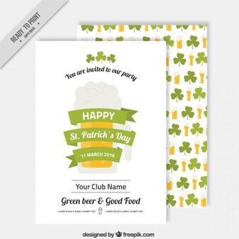 Saint Patrick Day Invitation Template
