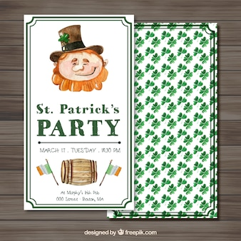 SAint Patrick Day Party Watercolor Flyer