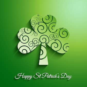 Saint Patrick Day Shamrock Background