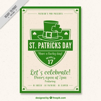 Saint patrick's day poster in vintage style