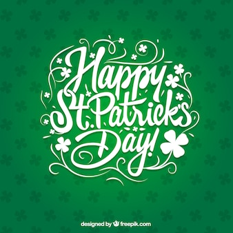 Saint Patricks day card in lettering style