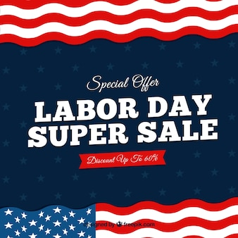 Sale background of american flags of labor day