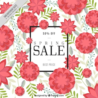 Sale background of decorative flowers