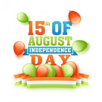 Sale background with balloons for indian independence day