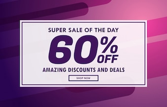 Sale banner voucher template vector design with offer details